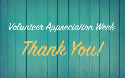 Happy Volunteer Appreciation Week 2020!